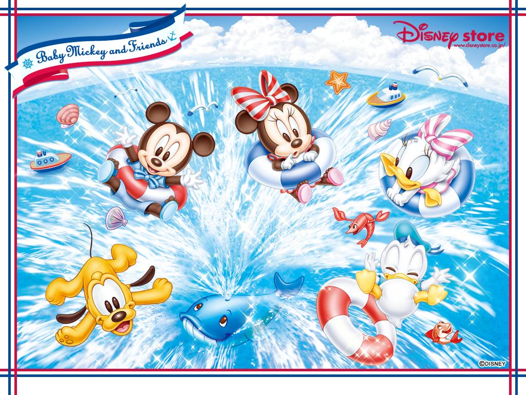 Free Disney Summer Wallpaper: Fond D'ecran Bébés Disney