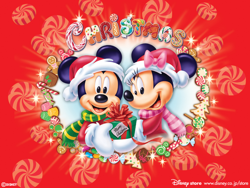 Fond D Ecran Noel Mickey Et Minnie Wallpaper
