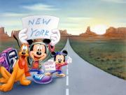 Mickey sur la route