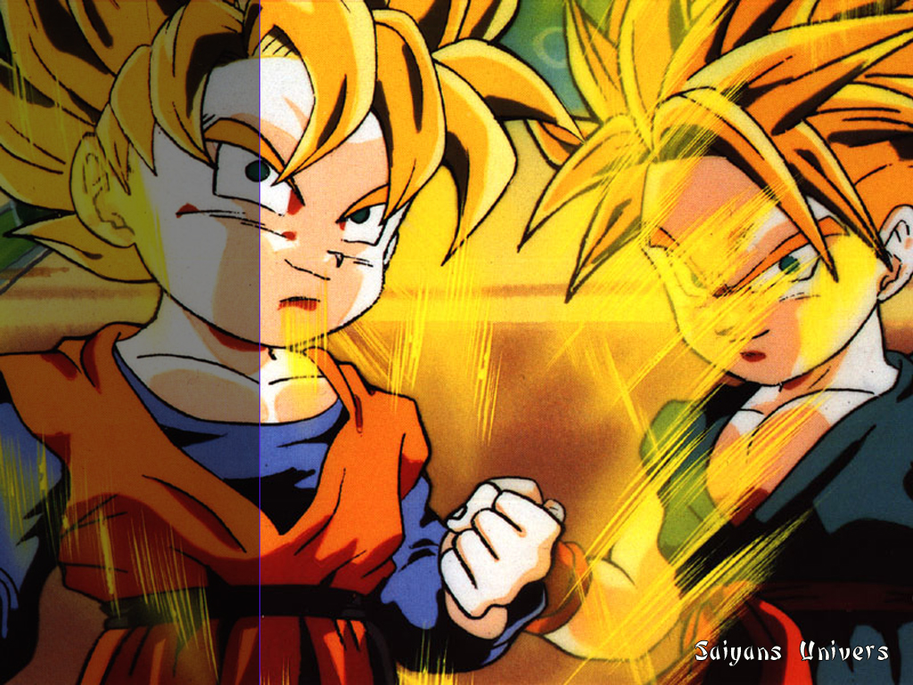 Fond d 39 ecran trunks et sangoten wallpaper for Fond ecran dbz