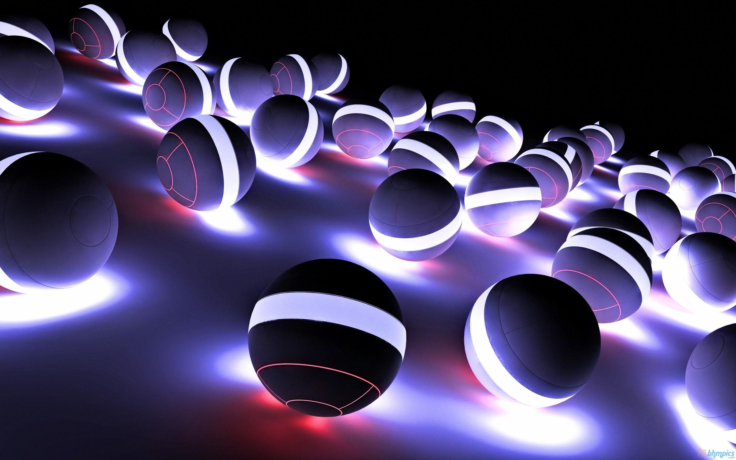 Fond d 39 ecran light balls wallpaper for Fond ecran pc 3d