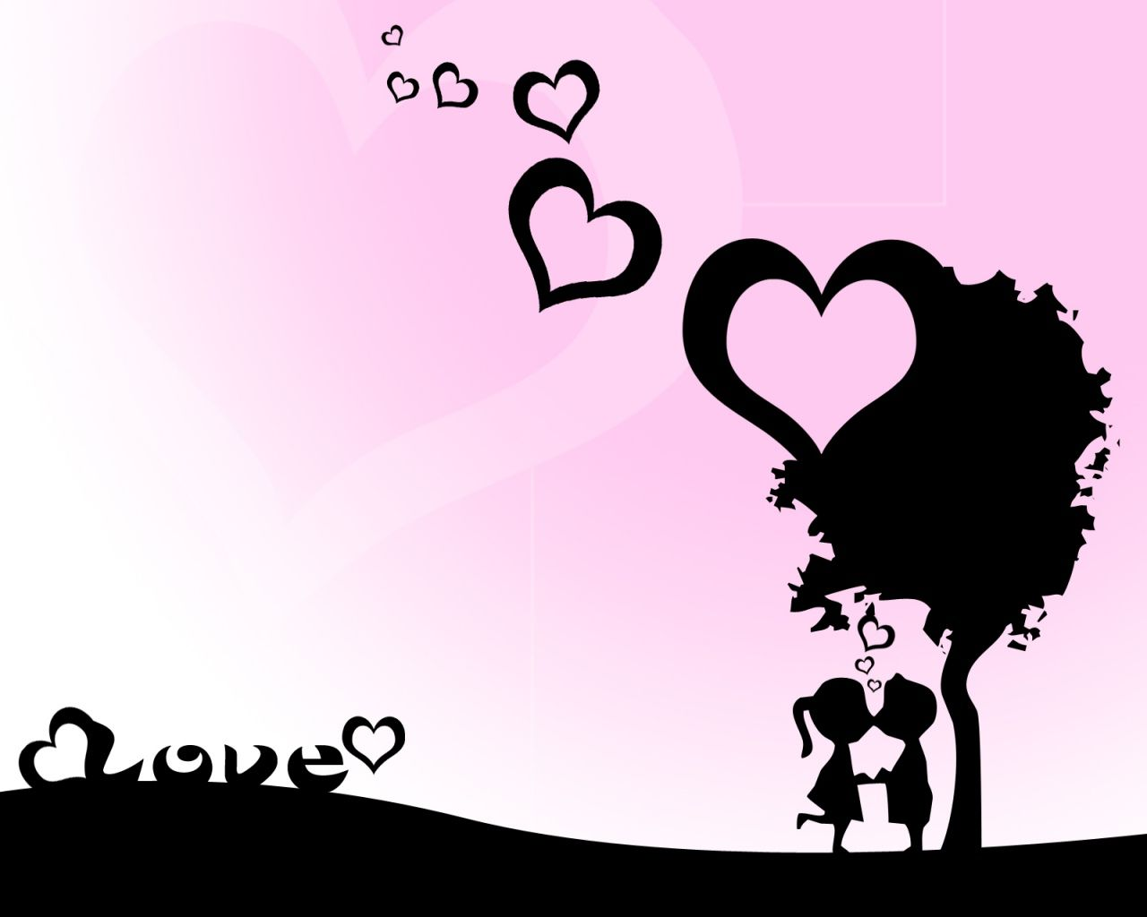 Fond d 39 ecran amour sous un arbre wallpaper for Fond ecran amour