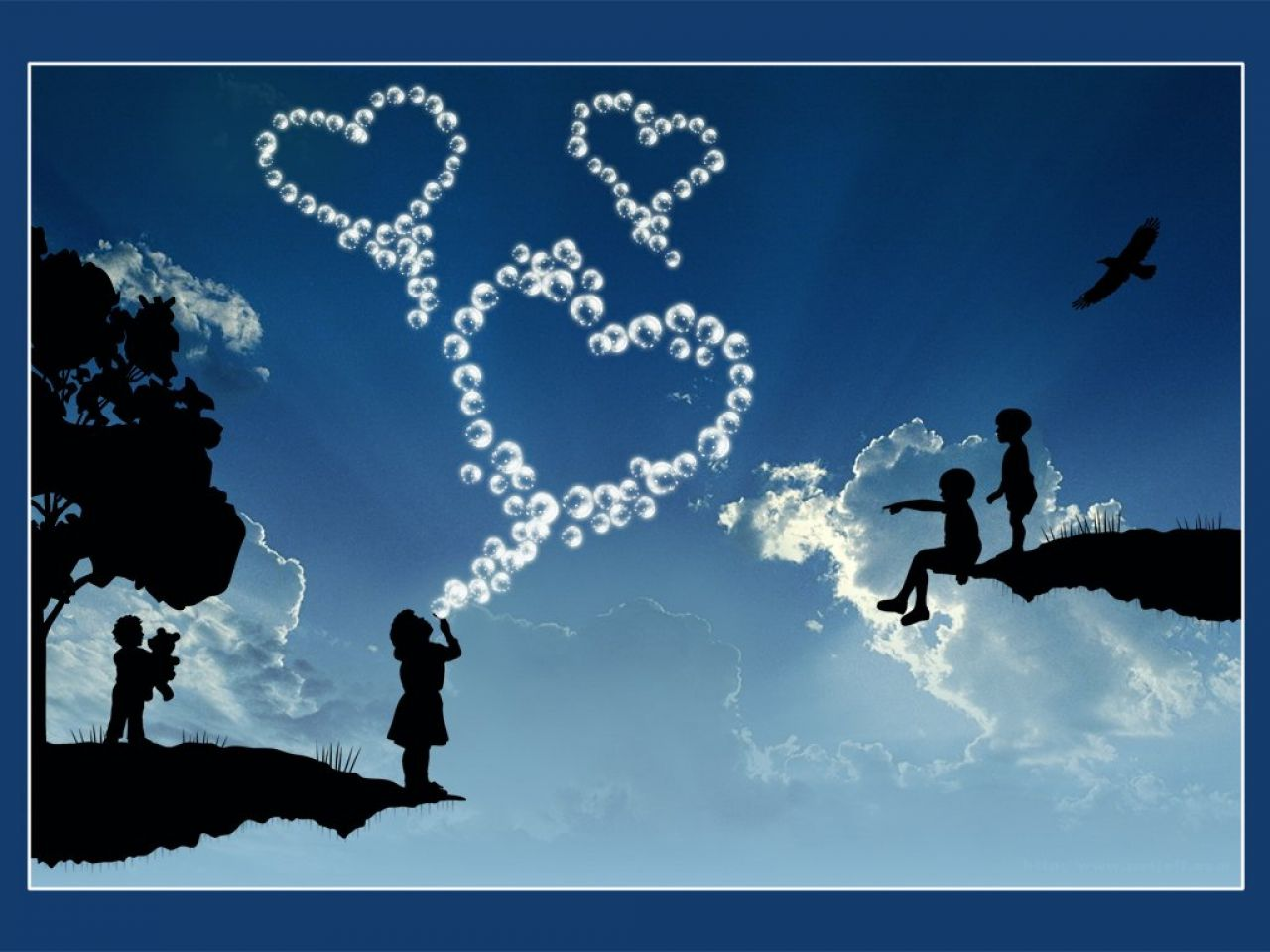 Fond d 39 ecran l 39 amour dans le ciel wallpaper for Fond ecran amour