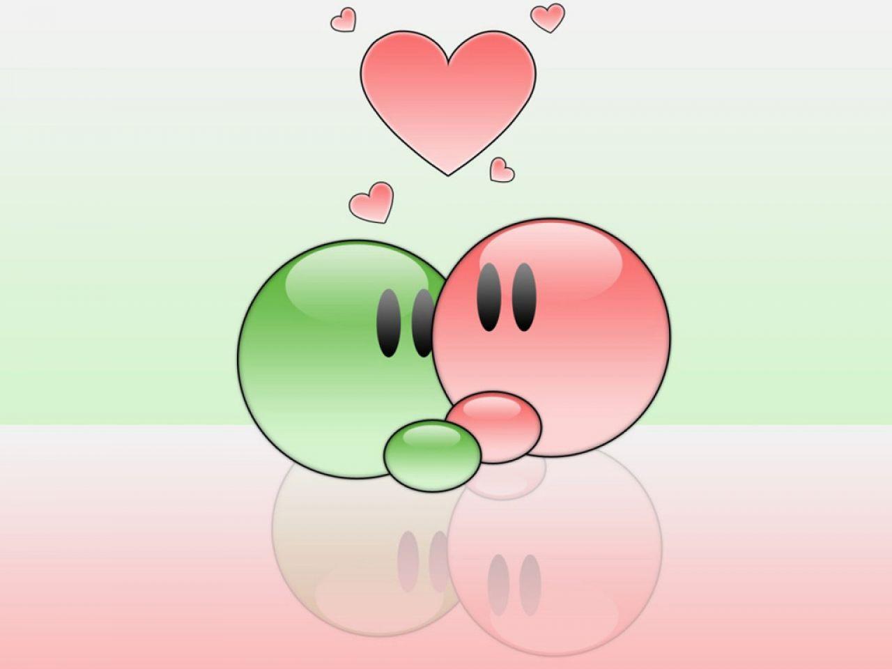 Fond d 39 ecran amour vert et rose wallpaper for Fond ecran amour