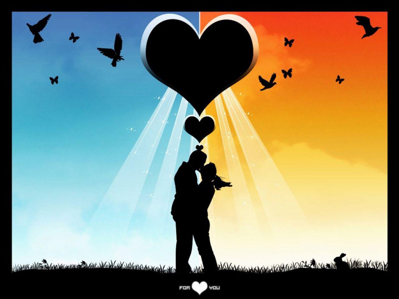Fond d 39 ecran amoureux sous un coeur wallpaper - Un coeur amoureux ...