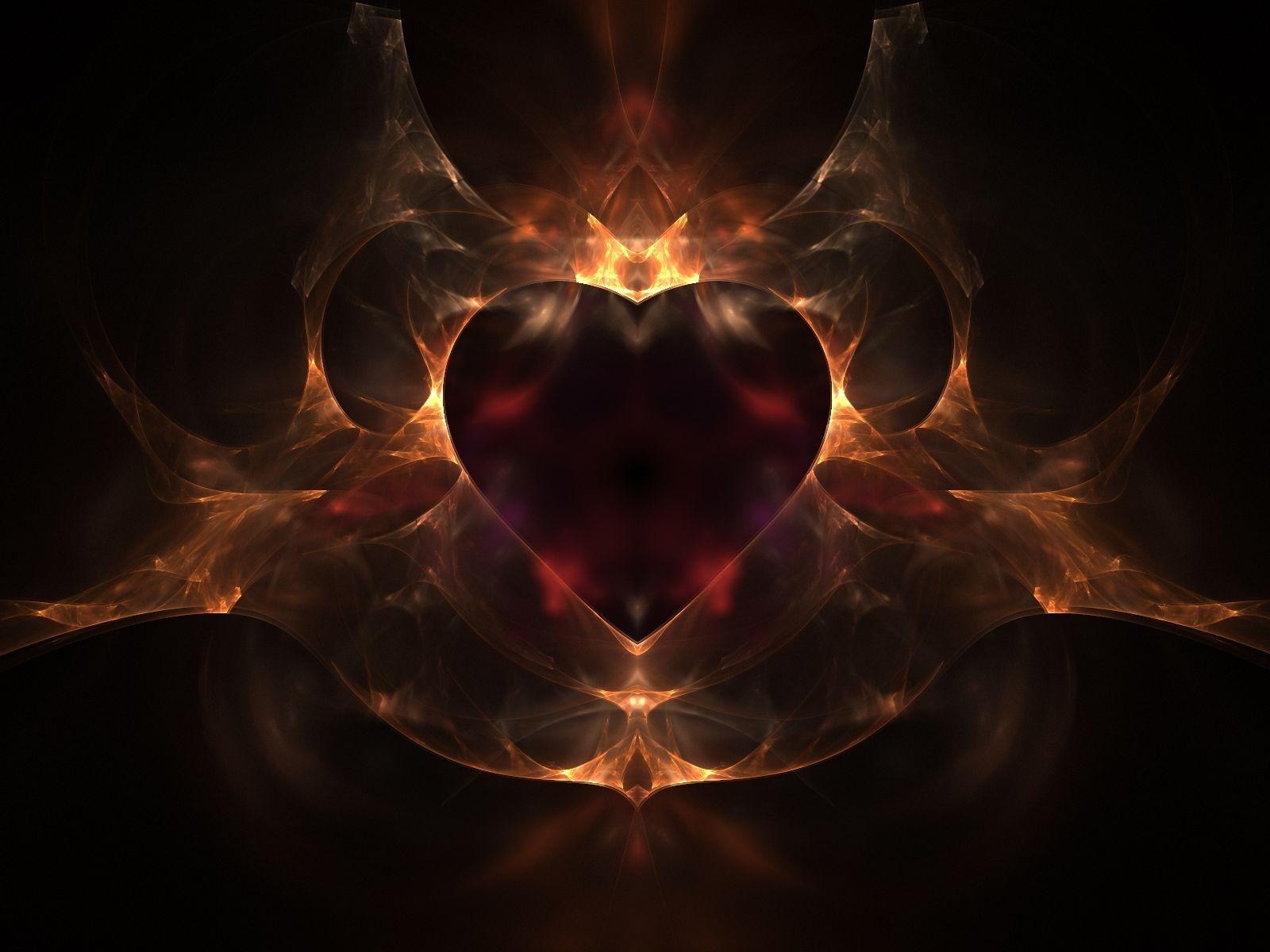 Fond d'ecran Coeur feu - Wallpaper
