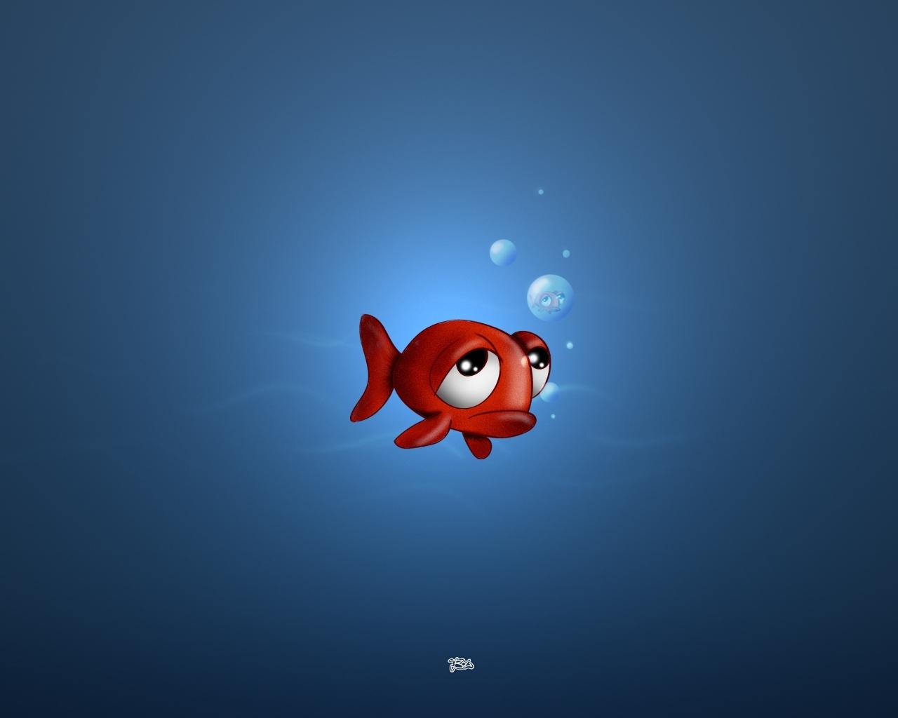 Fond d 39 ecran comme un poisson dans un bocal wallpaper for Bocal a poisson design