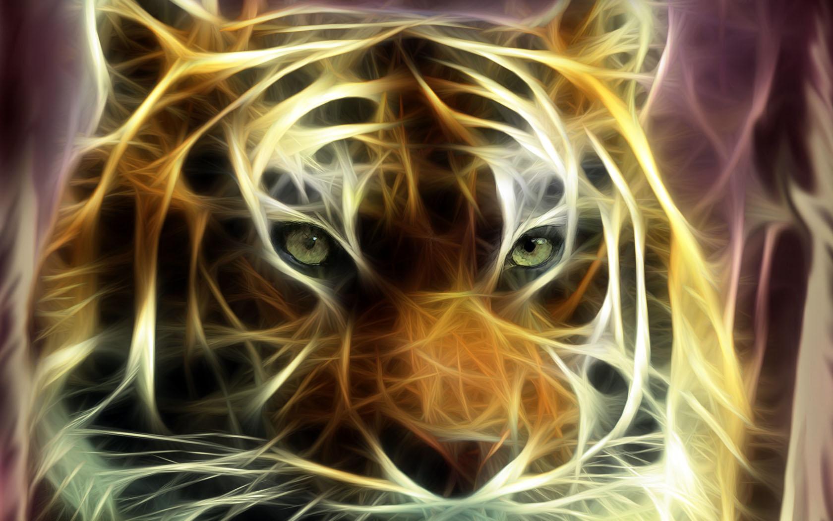 Fond Decran Eyes Of Tiger Wallpaper
