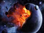 Explosion Noyau de la Terre