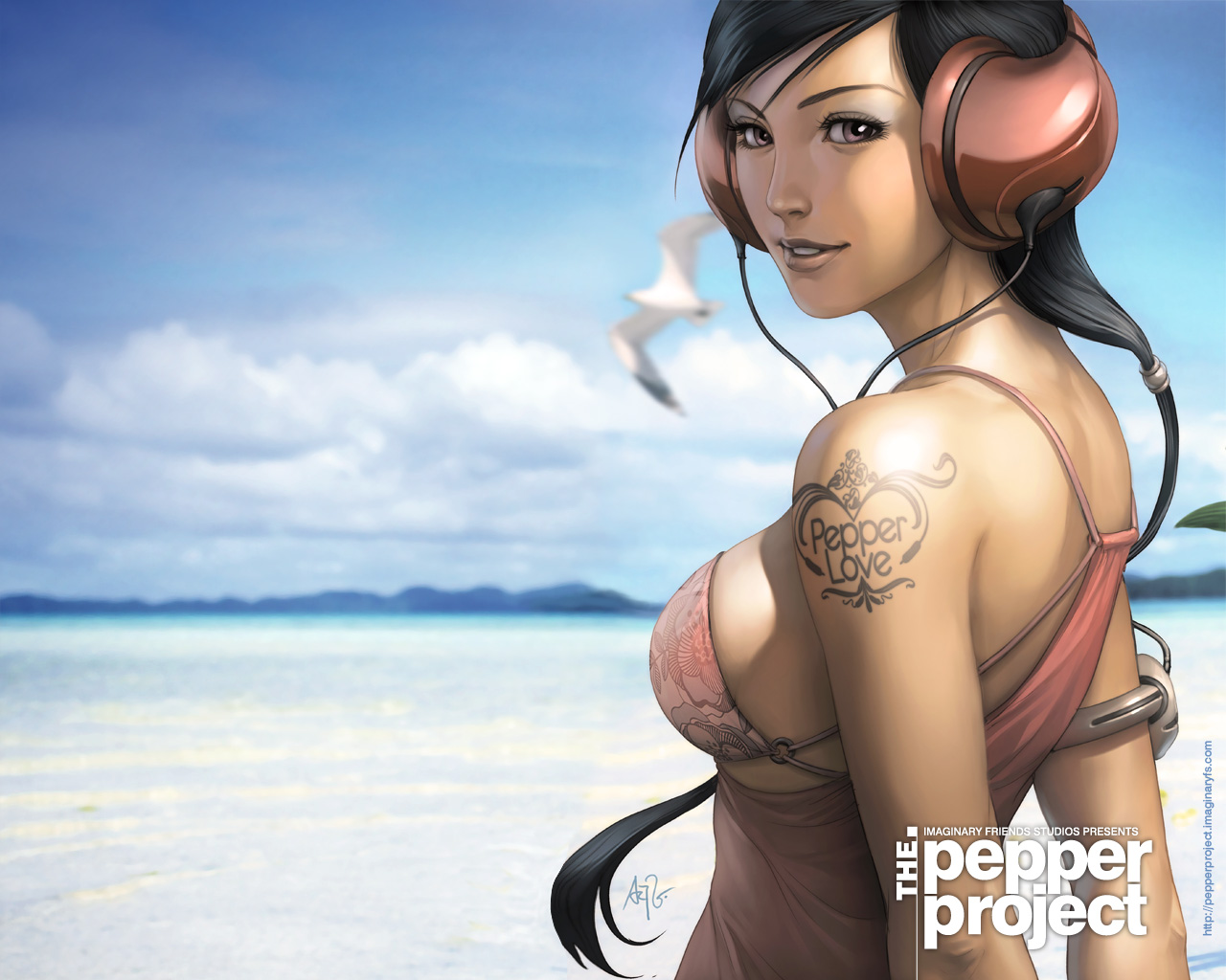 Fond d 39 ecran pepper love wallpaper - Anime girl full hd ...