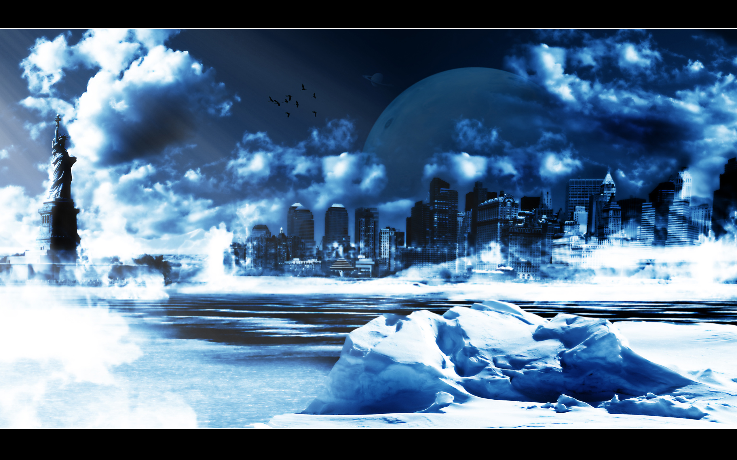Fond d 39 ecran new york sous la neige wallpaper for Fond ecran neige