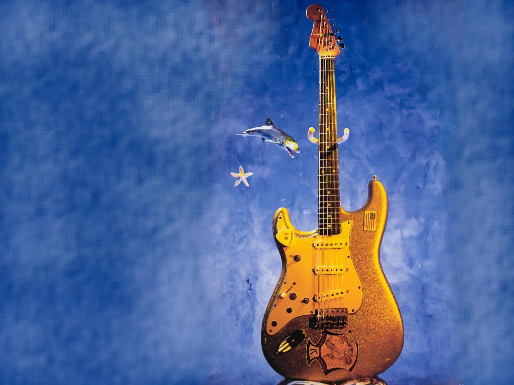 Fond d'ecran Guitare water - Wallpaper