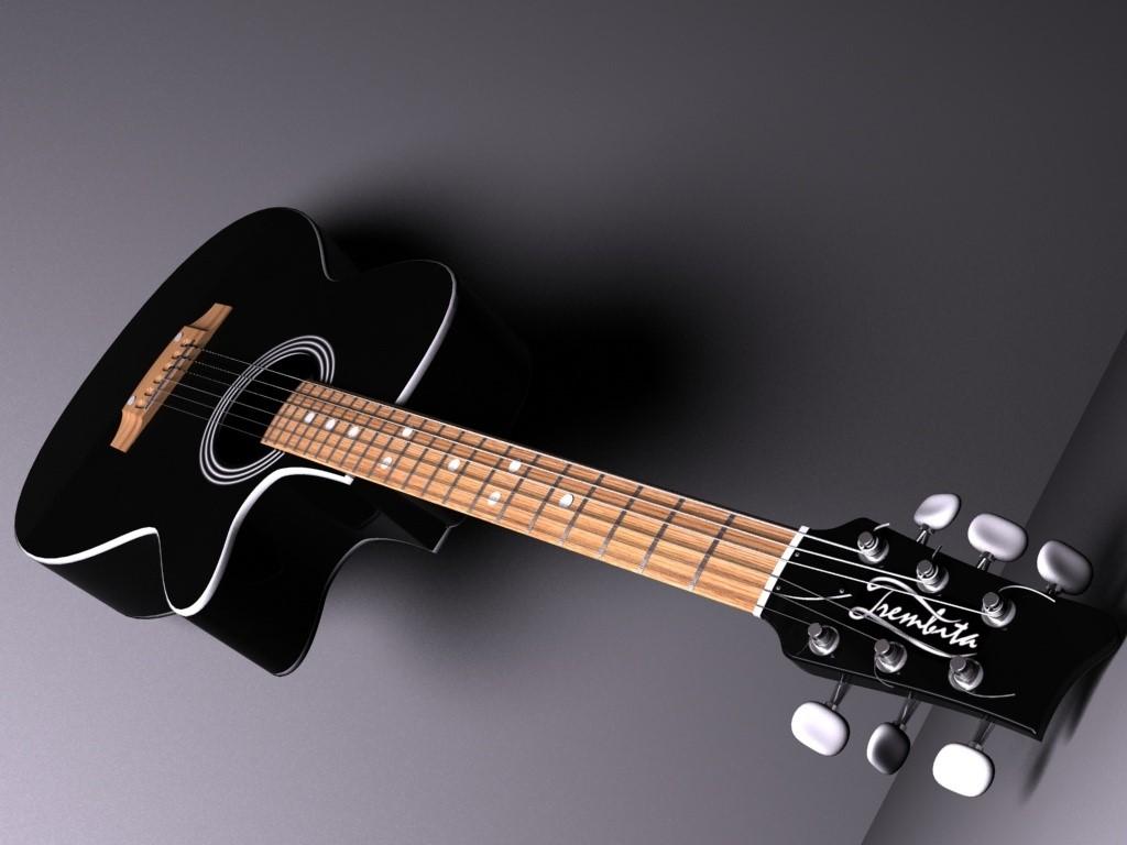 Fond d'ecran Zoom Guitare - Wallpaper