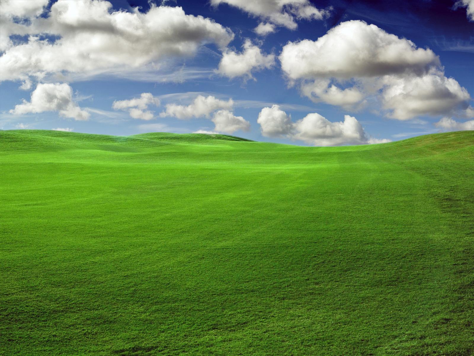 Fond d 39 ecran nuage et herbe wallpaper for Paysage design