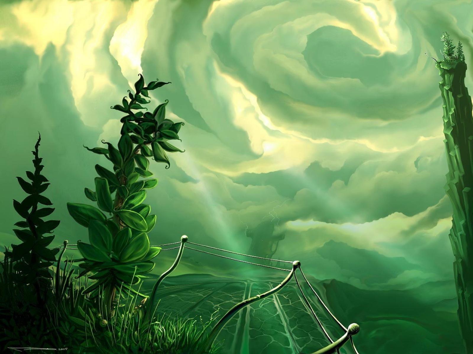 Fond d 39 ecran vert nature wallpaper for Design paysage