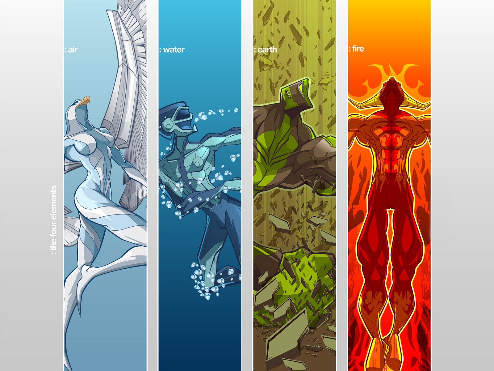 4 Elements  Desktop Nexus Wallpapers