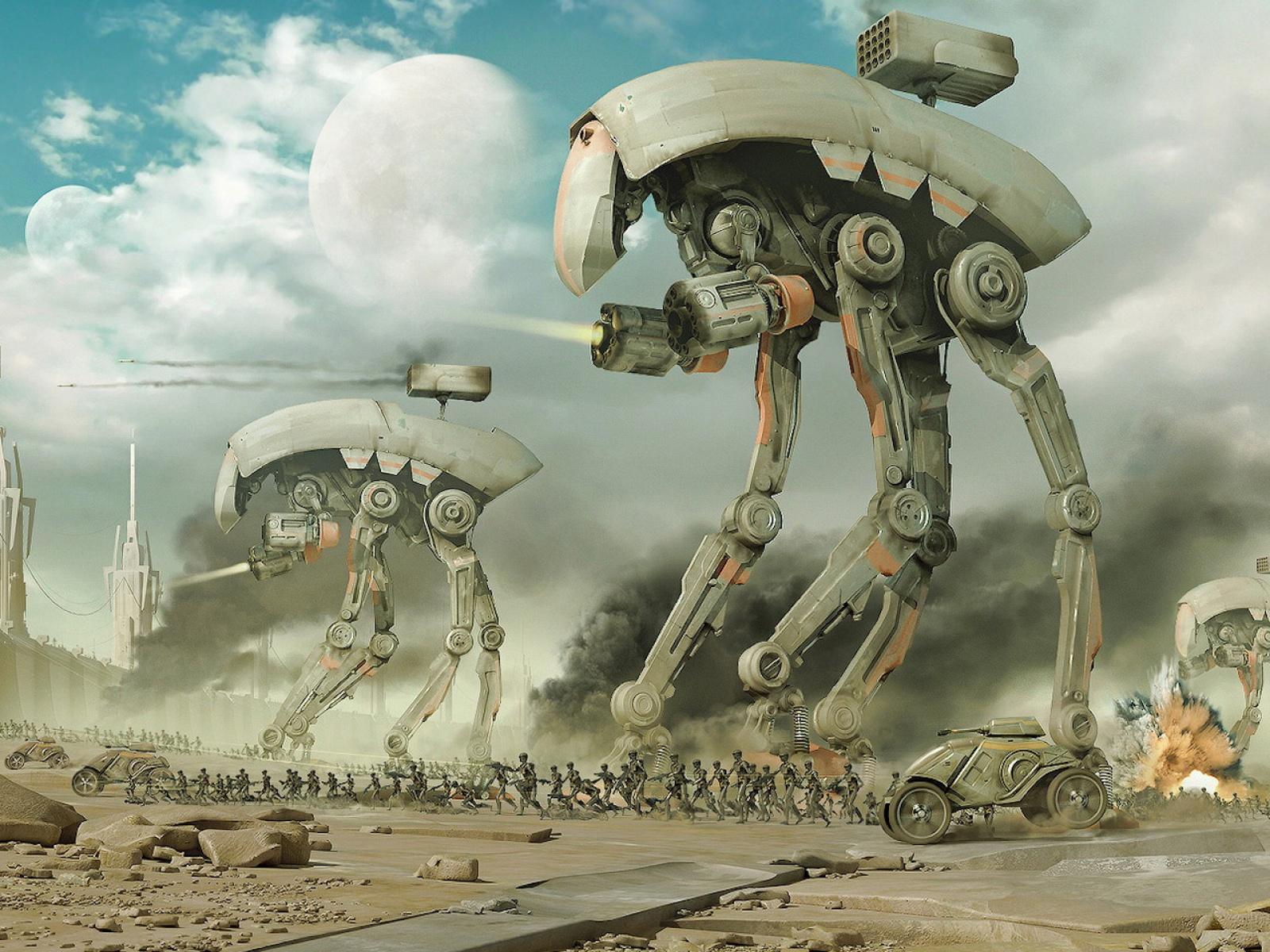 Fond d'ecran Guerre de Robots - Wallpaper