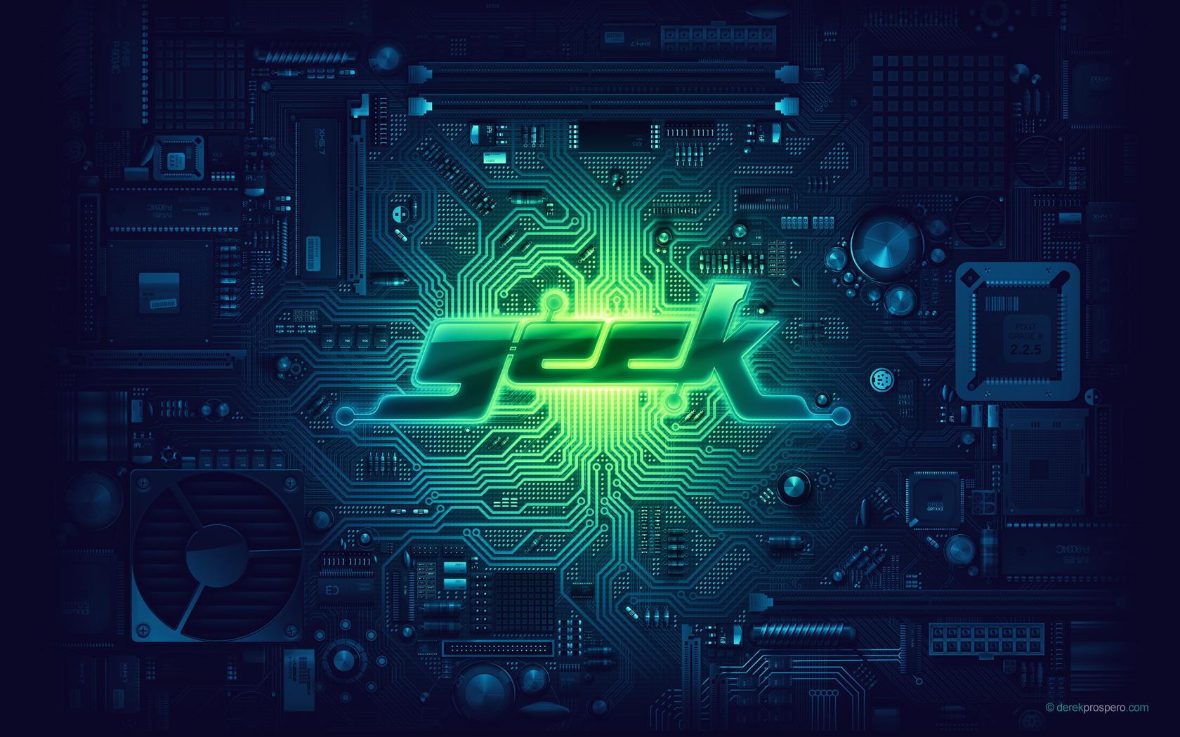 Fond d'ecran Geek power - Wallpaper