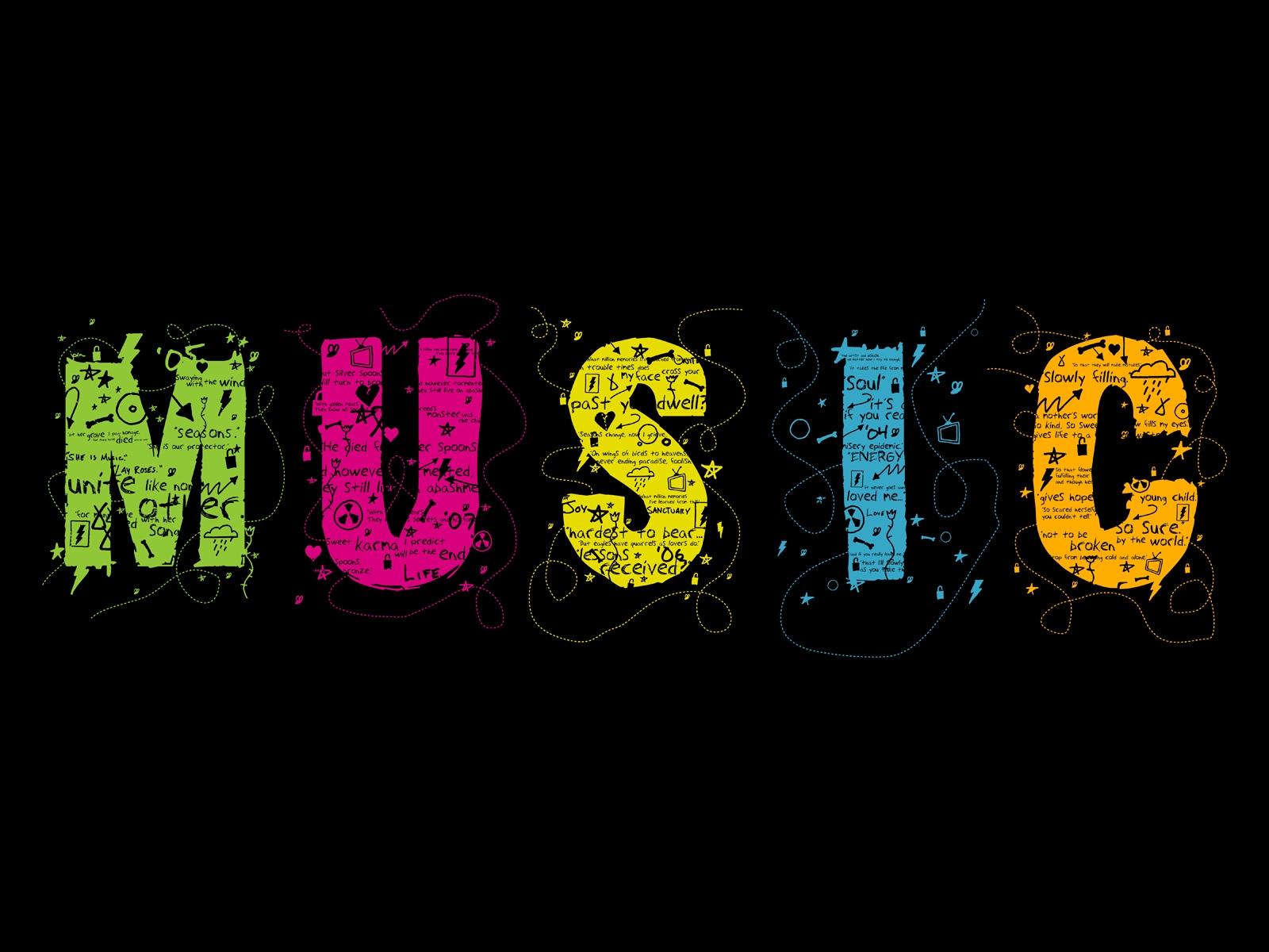 Fond D Ecran Music Colors Wallpaper
