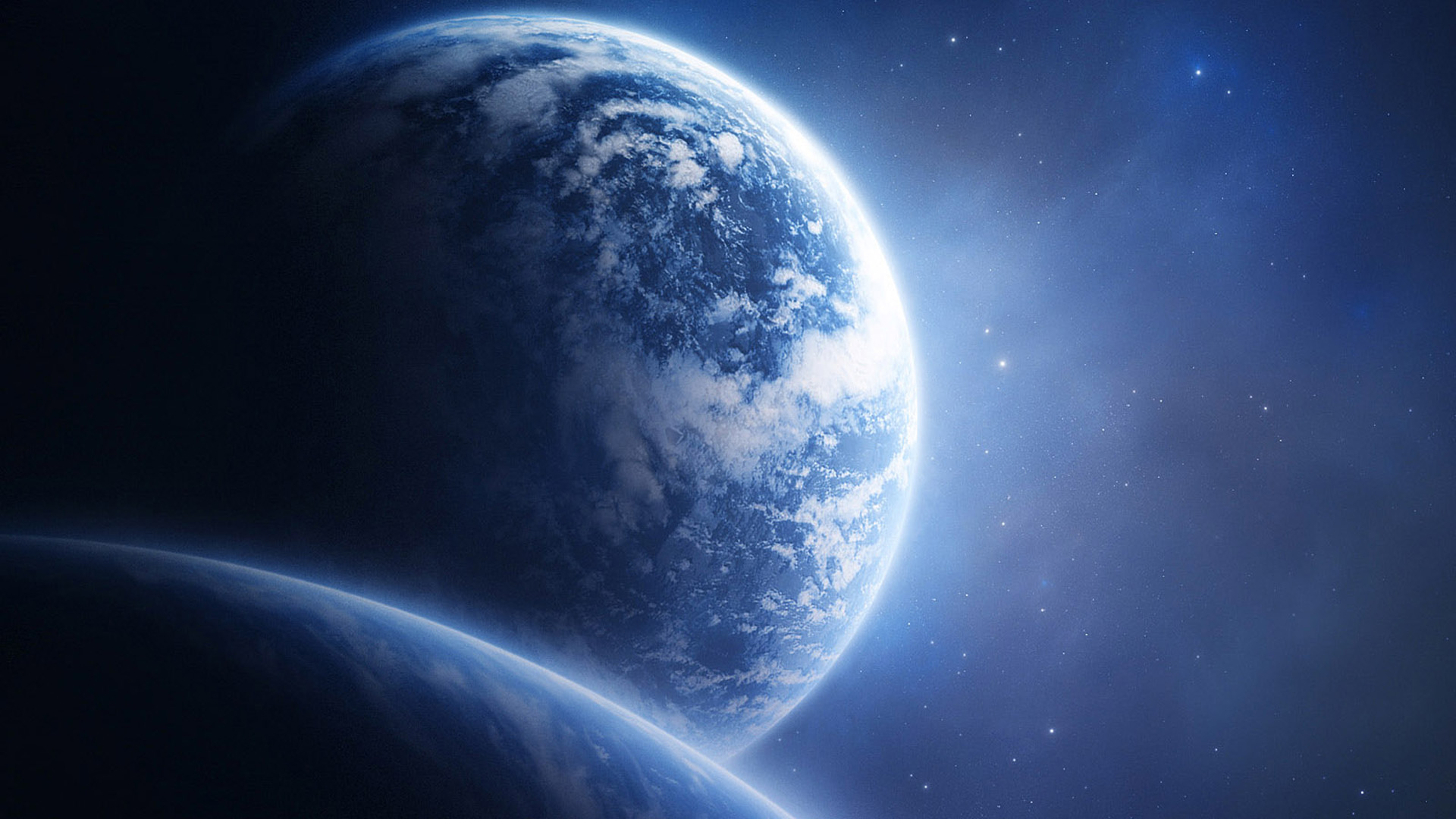Fond d 39 ecran la face de la terre wallpaper for Paysage espace