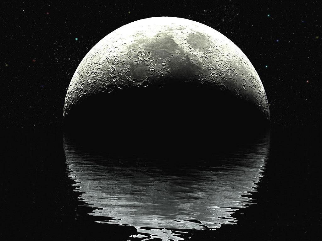 Son bureau ? - aller à la liste complète des fonds d'écran de lune