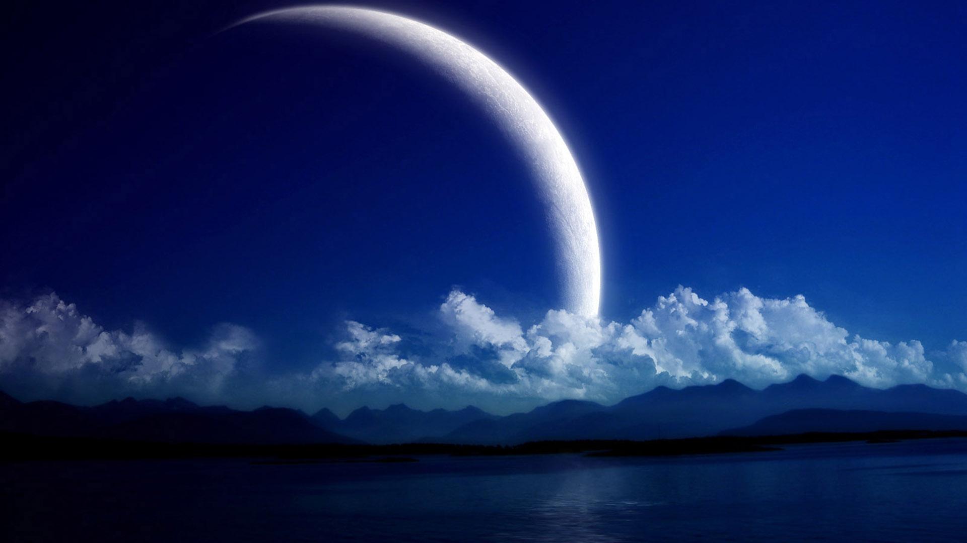 Fond d'ecran Enorme Lune - Wallpaper