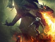 Dragon et guerrier