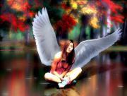 Ange sur lac