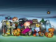 Personnages nuit Halloween