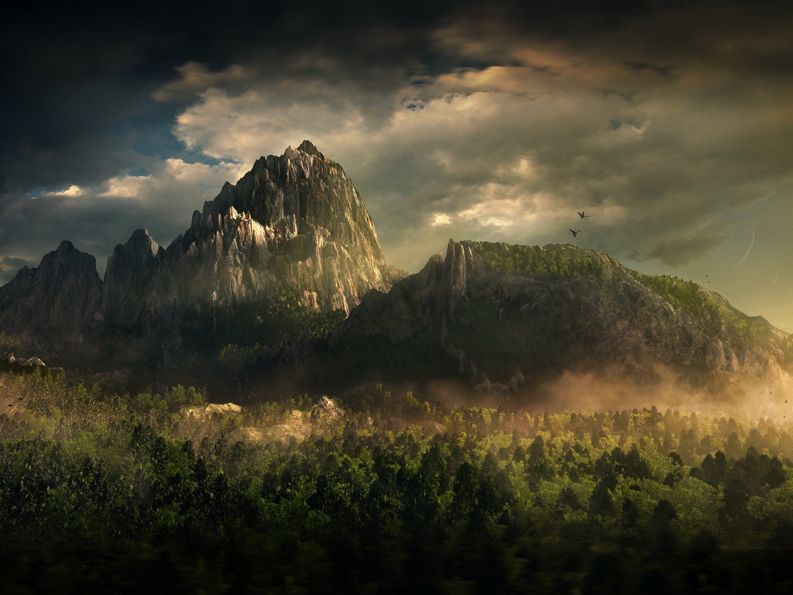 l'enrichissement d'un nain 5586-montagne-fantastique-WallFizz