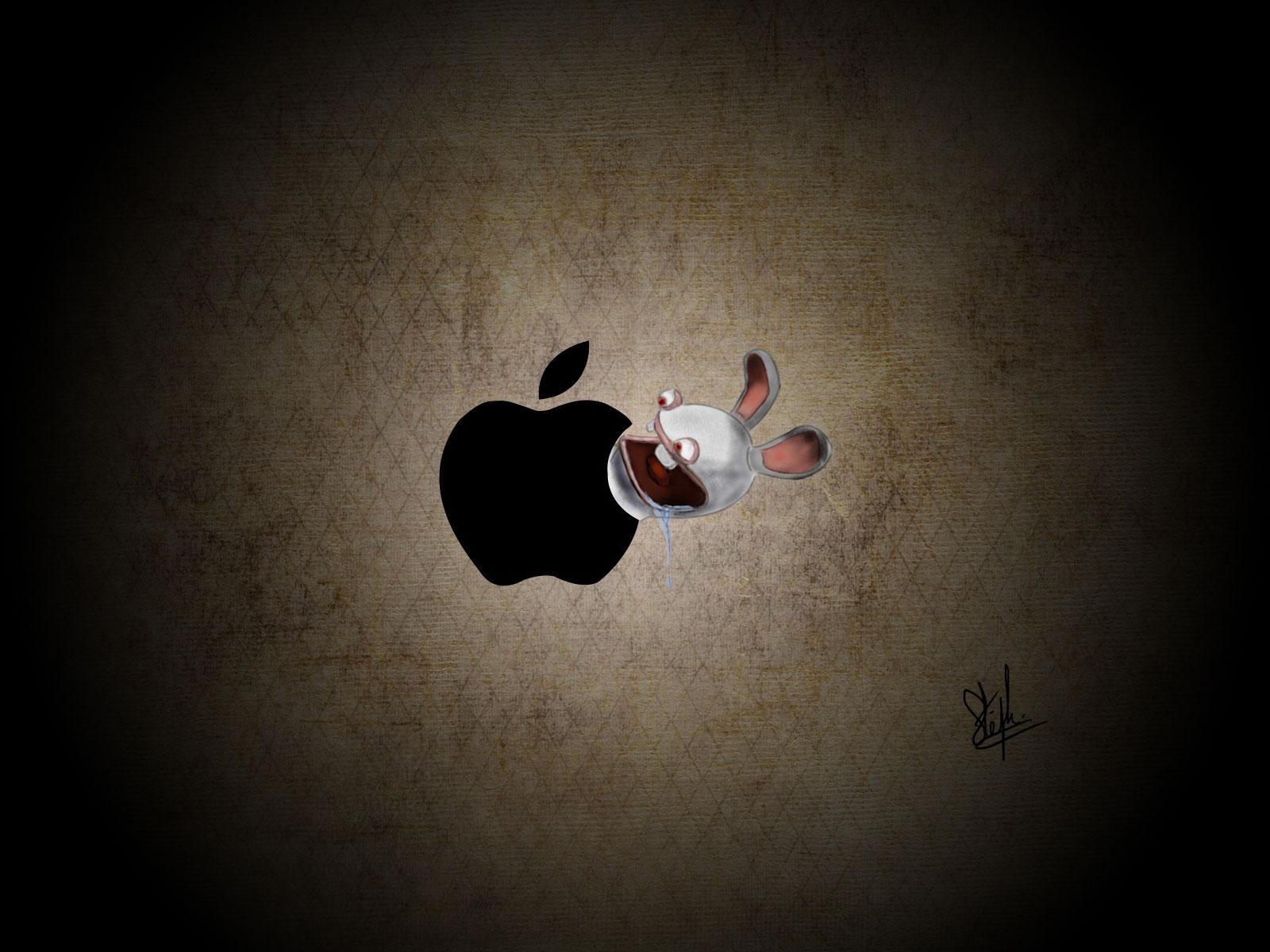 Fond d 39 ecran lapin cr tin apple wallpaper - Lapin cretain gratuit ...