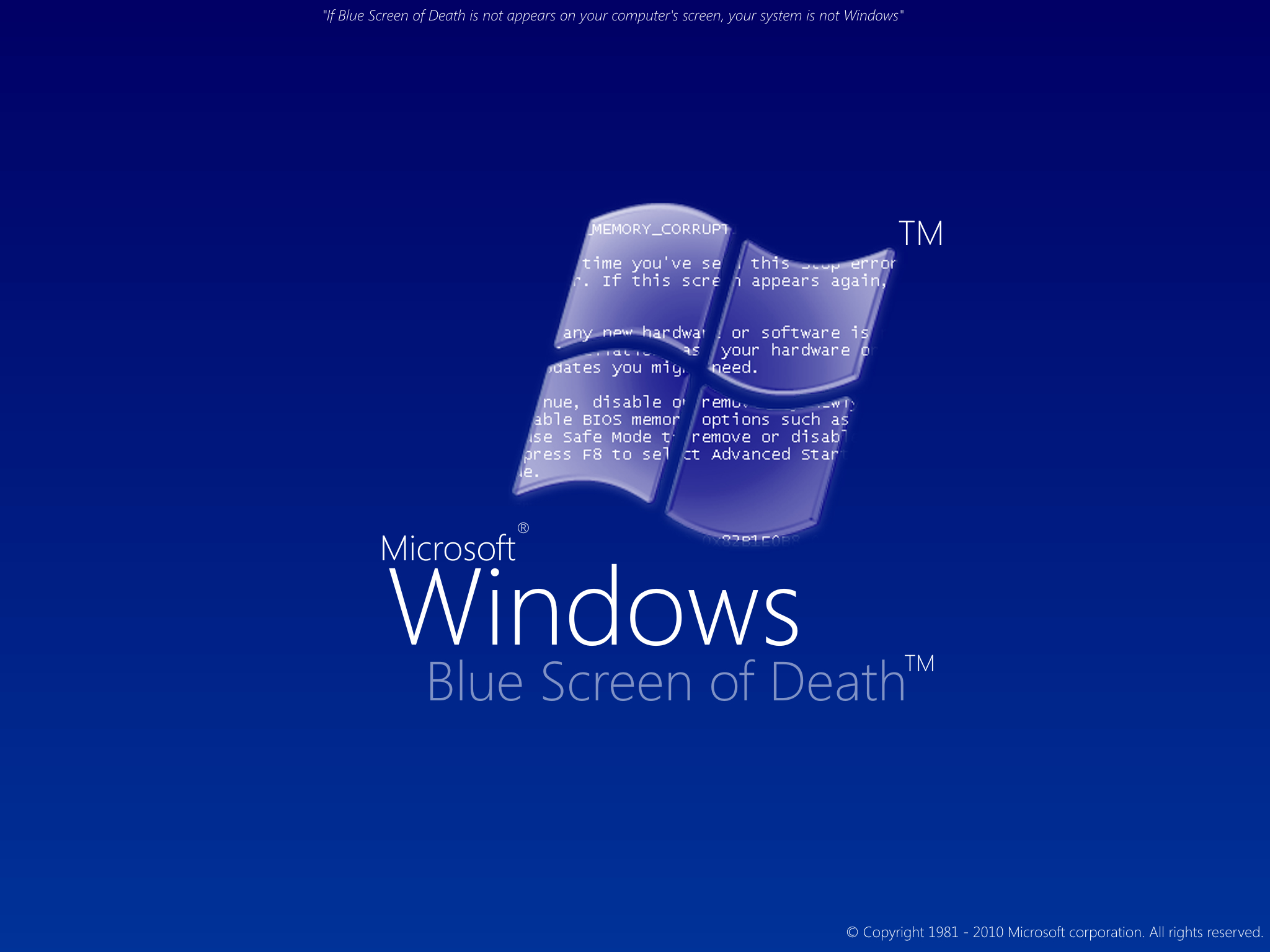 how to fix computer blue screen windows xp