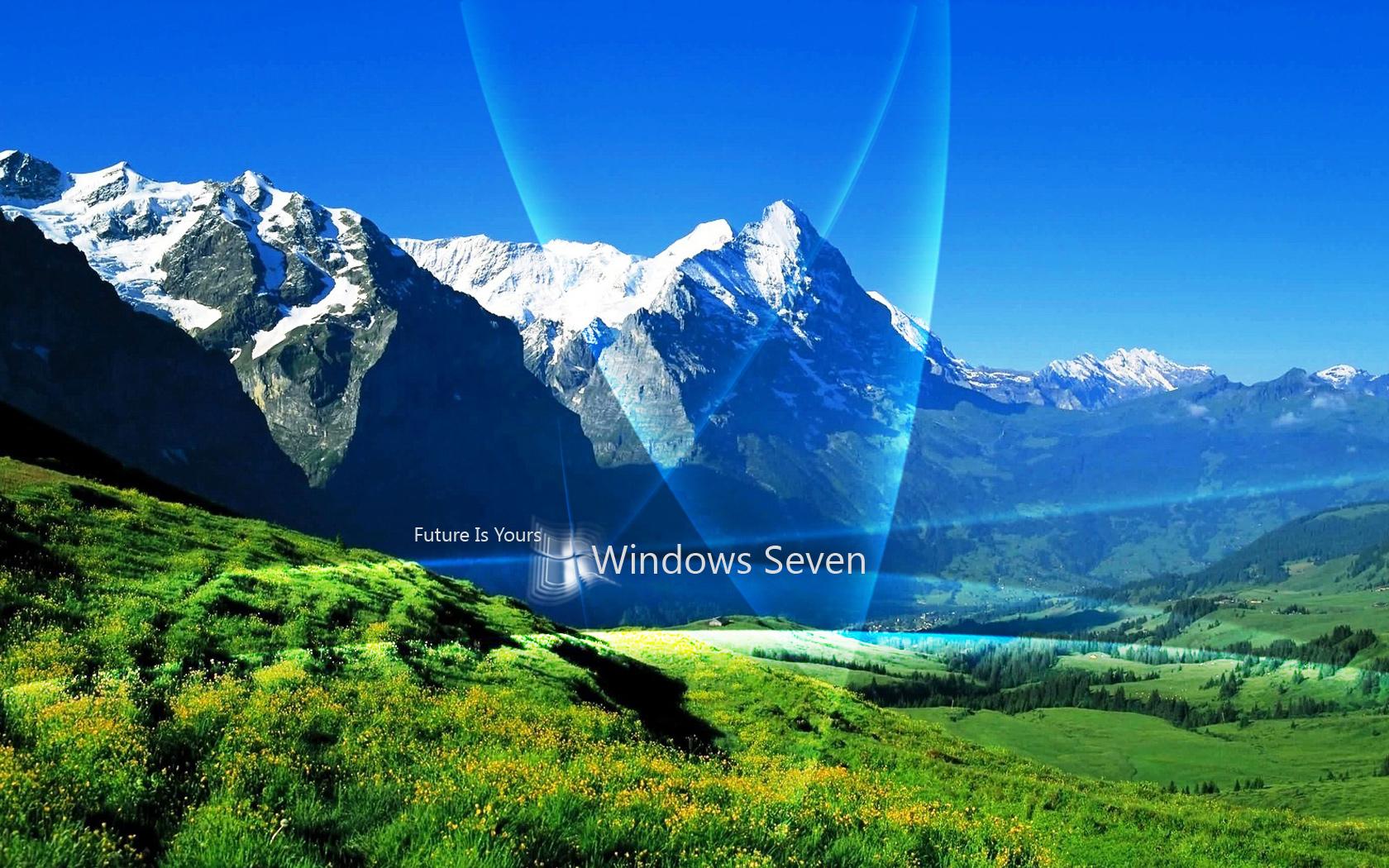 Fond d 39 ecran montagne windows wallpaper for Fond ecran montagne