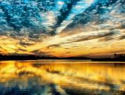 Ciel reflété sur l'eau