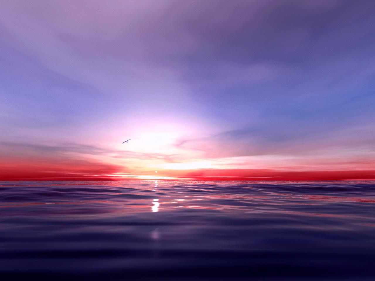 Fond d 39 ecran couch sur la mer wallpaper - Fond ecran coucher de soleil sur la mer ...