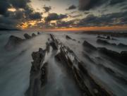 Brume sur les rochers
