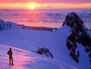 En haut de la montagne