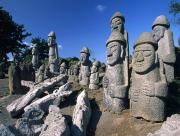 Statuts en forme de visage