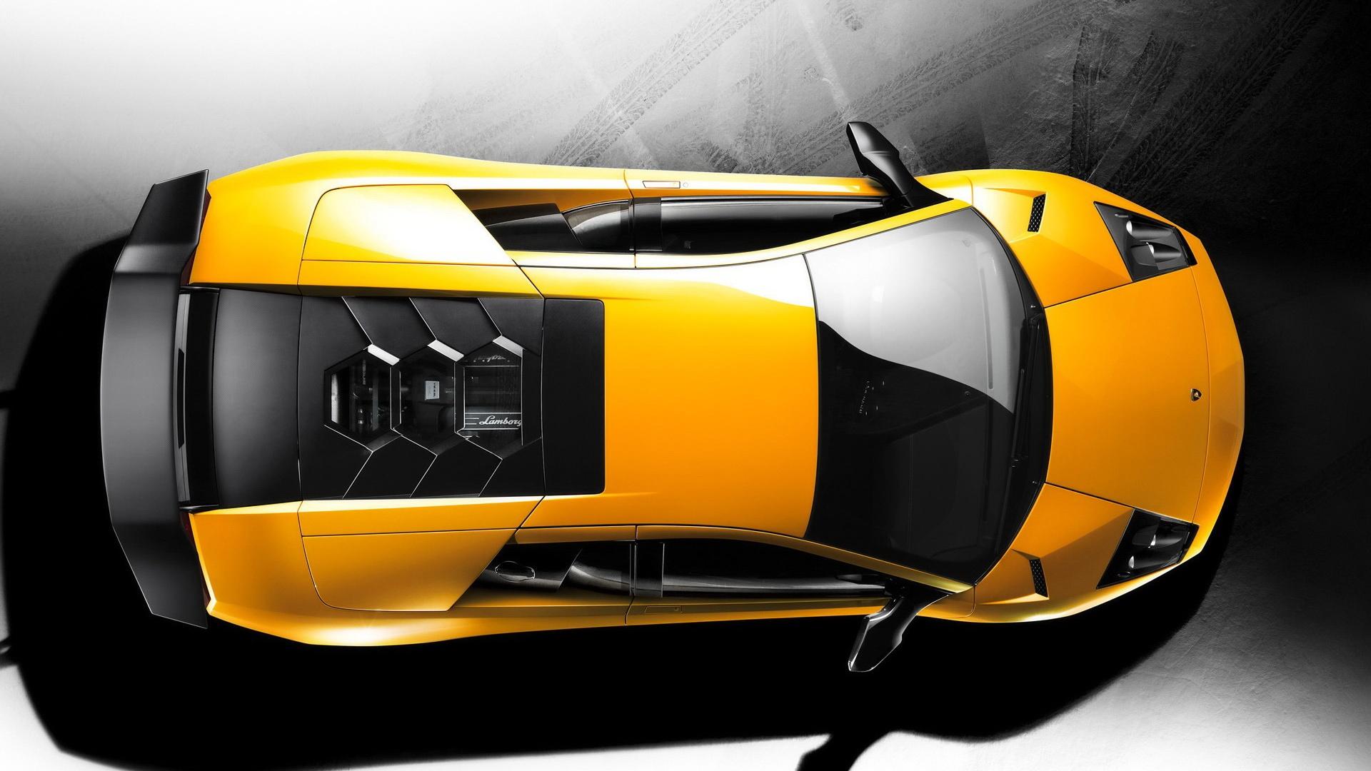 Fond d'ecran Lamborghini vue du dessus - Wallpaper