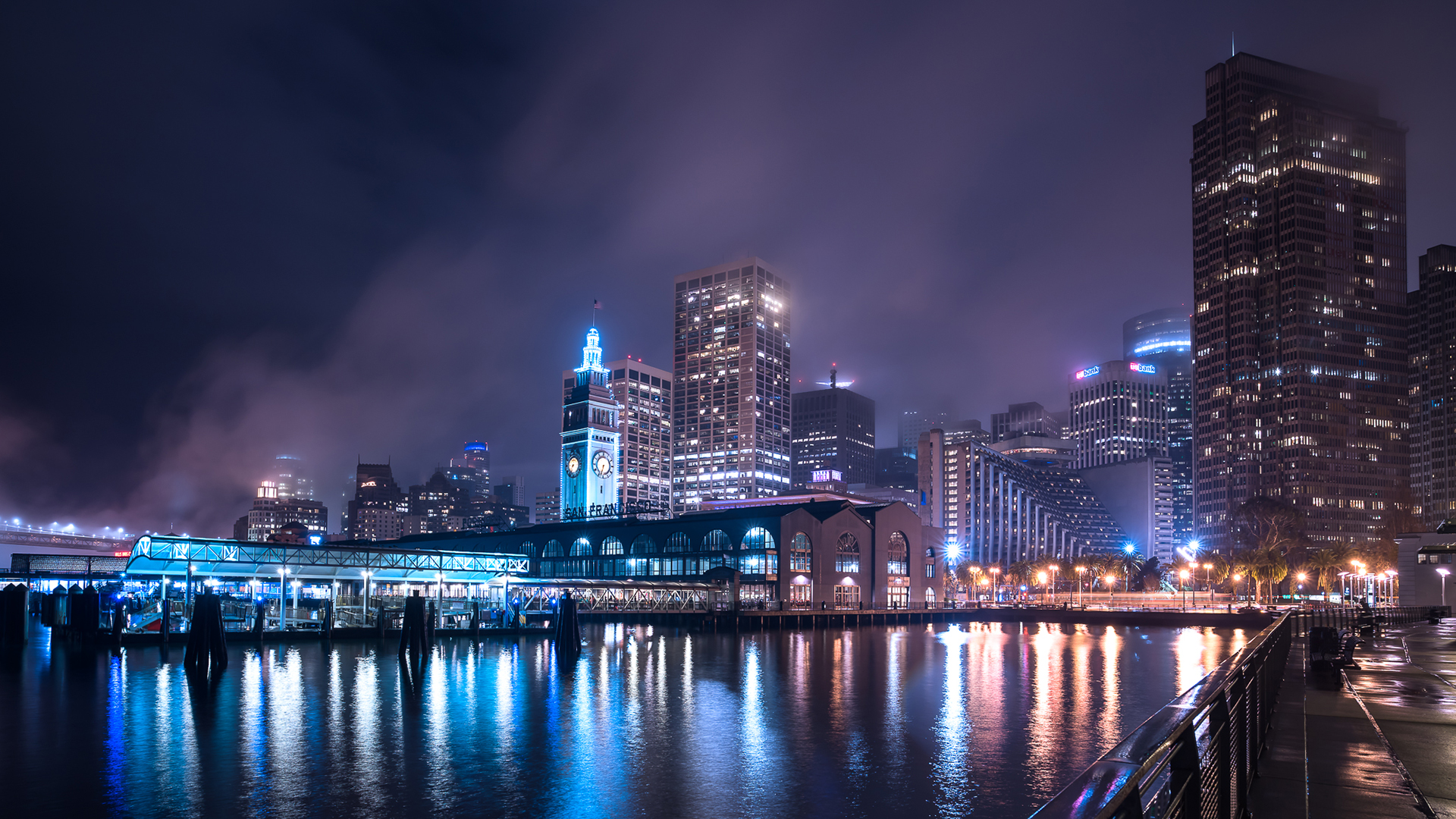 Fond d'ecran San Francisco by Night - Wallpaper
