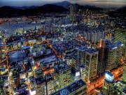 Ville japonaise de nuit