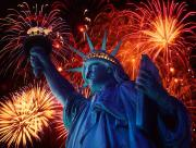 Statue Of Liberty Feux Artifice