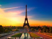 Couché de soleil Tour Eiffel
