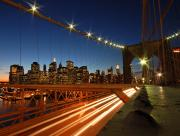 Pont ville la nuit