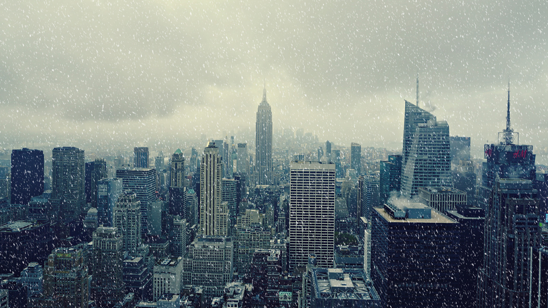 Très Fond d'ecran New-York sous la neige - Wallpaper VV44