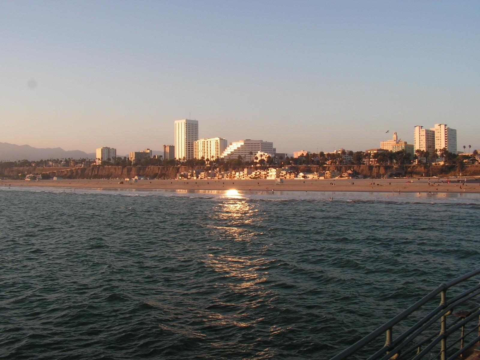 Fond D Ecran Coucher De Soleil Sur Santa Monica Los